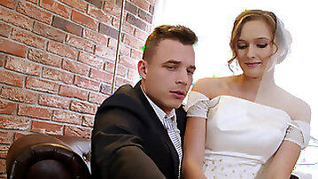 Bride fucks a rich guy in front of her future husband