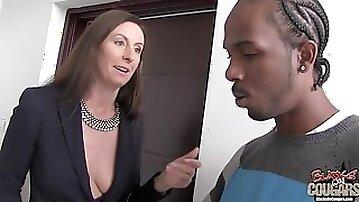 Black On Cougar With Lara Latex