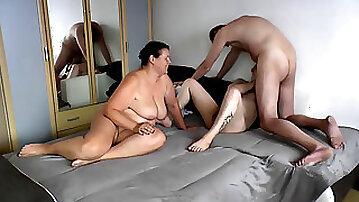 Wank, bisexual threesome, gay