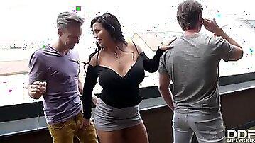 Slovakian busty goddess group sex