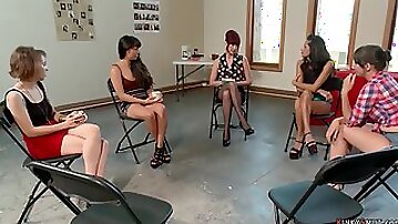 Redhead mom spank and whip prostitute