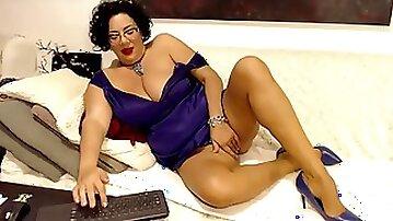 Russian milf big tits long legs futanari