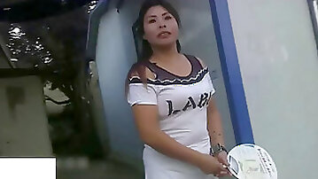 Japanese Village Hooker at Work - chubby milf