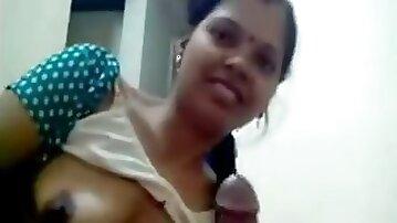 Horny mature indian slut sucks on hard cock segment
