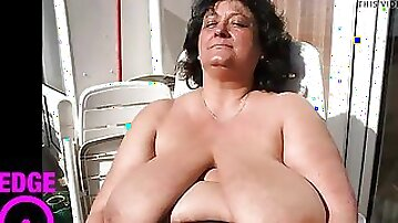 Huge Granny Tits Jerk Off Challenge To The Beat Part Two