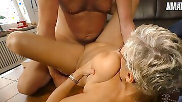 Busty German GILF Erna Rides Cock Like A Teenager