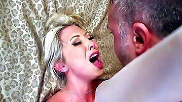 Busty blonde milf gets banged on her wedding day
