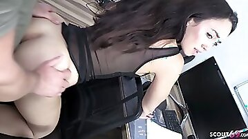 Bro Caught StepSister Nude in Front Livecam and talk to Fuck