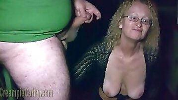 Crazy granny gets fucked in the cinema in hot vintage scene