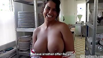 Huge tits and mega clit in reality POV Czech porn