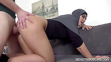 Slacking muslim wifey disciplined