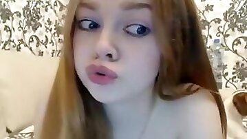 Teen Redhead Solo Deepthroat