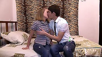 Rachel allows a guy to finger and fuck her teen cunt