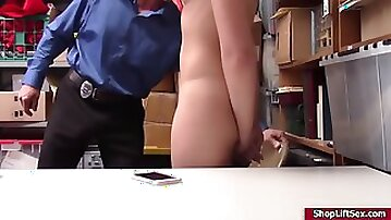 Lp officer found the stolen item and fucked avi love tight ass hard