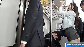 Asian Housewife Upskirt On The Public Bus