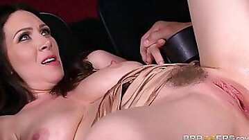 Milf with massive tits gets fucked hard in the cinema