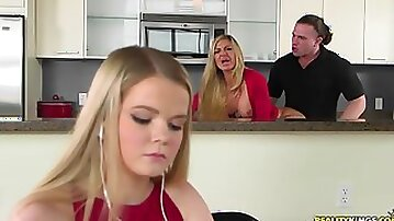 Horny MILF mom properly fucked by long haired dude