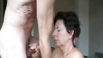 Wild face fuck for my mature saggy titties wifey on webcam