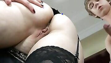 Curvy mom is licked and analyzed by her horny stepson