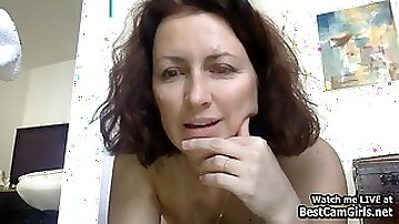 Sexy French Mature Plays Vibrator And Squirts On Webcam