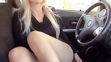Nylon Pantyhose Footjob with Cum on Feet