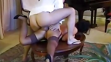 Romantic evening ends with her fucking