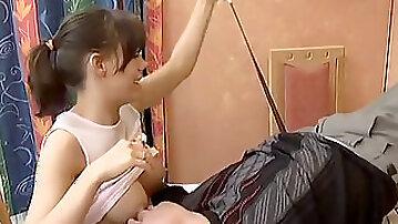 Breastfeeding stepdaughter smashing her dad