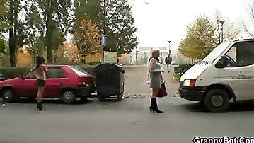 Granny Prostitute Pleases him