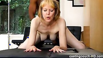 Interrcial throat jamming with 60 y.o. mature whore who wants to work in porn