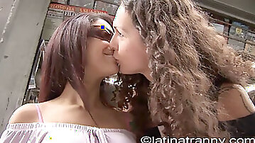 Nikki Montero pickup Monica Mattos on the streets for romp in Sao Paulo