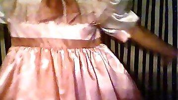 Sissy diaper masterbation dance