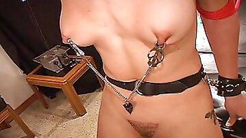 Tranny Slut Electro Pain Bondage Session