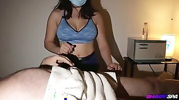 Monster cock jacked at after real massage