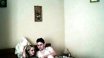 Recording homemade video with my hot blonde Romanian girlfriend