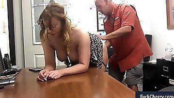 Fun with my secretary at work in real amateur sextape