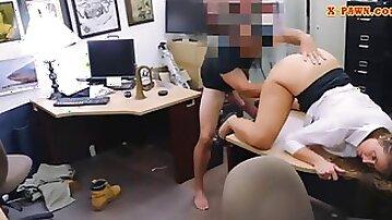Huge ass amateur banged in the backroom