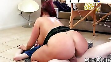 Big tit brunette strap on and bubble butt orgy Big Tit StepMom Gets a Massage