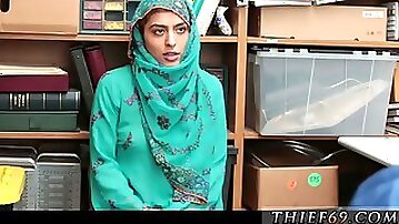 Standing still tied up police strap anal HijabWearing Arab Teen Harassed For Stealing