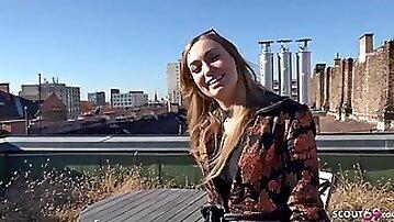 GERMAN SCOUT - Fashion Teenie Model Liza Talk to Sodomized for Cash
