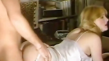 Super horny skank gets brutally fucked in doggy position
