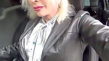 Utter fashion stocking old school gal