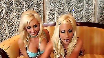 Twins Joelean, Jessica Lynn & Puma Swede get lesbian