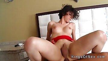 Huge ass tranny sucks and anal fucks clip