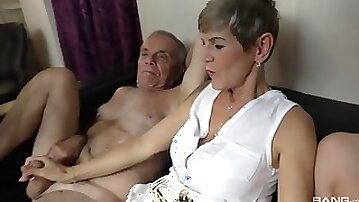 Dirty old and young foursome with Eveline Dellai & Ivana Beznoskova
