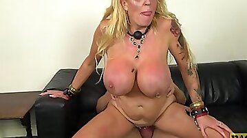 Blonde MILF with huge fake tits Shannon Boobs abused hardcore
