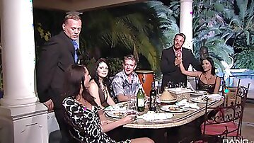 Erotic dinner leads these lovers to a smashing orgy