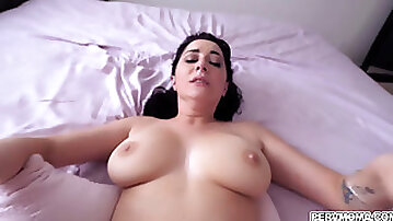 Cock hungry MILF loves fucking with stepson