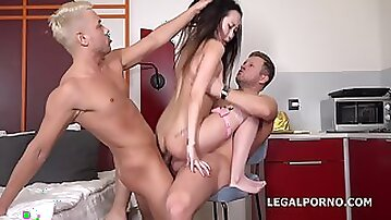 First Double Penetration During Rough Intercourse