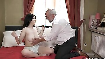 Teen Sheril Blossom and horny old geezer