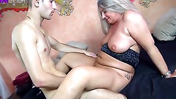 His First Milf! 18 Year Old Young Cock Fucked Me Bareback!